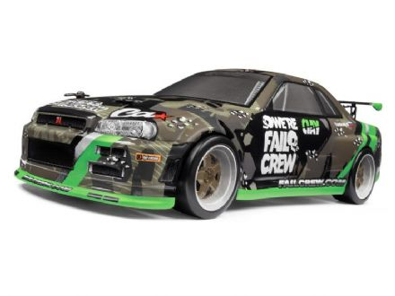 HPI 120101 Micro RS4 Drift - Fail Crew Nissan Skyline R34 GT-R 1/18th